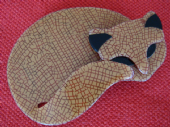Sleeping Cat Brooch by Lea Stein of Paris - Collectable Cat Pin (SOLD)